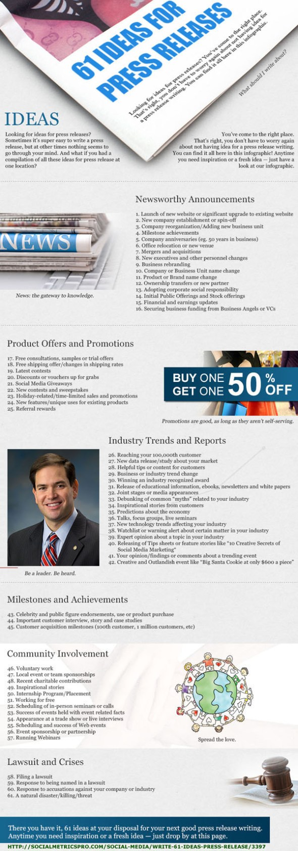 61 PR Ideas