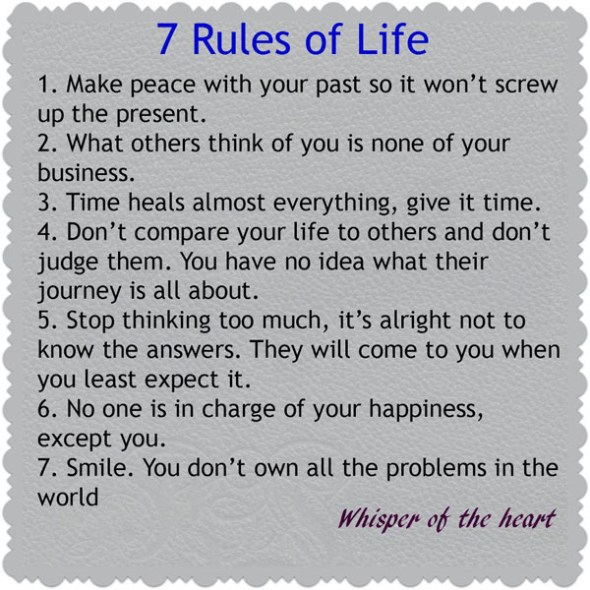 The 7 Rules of Life