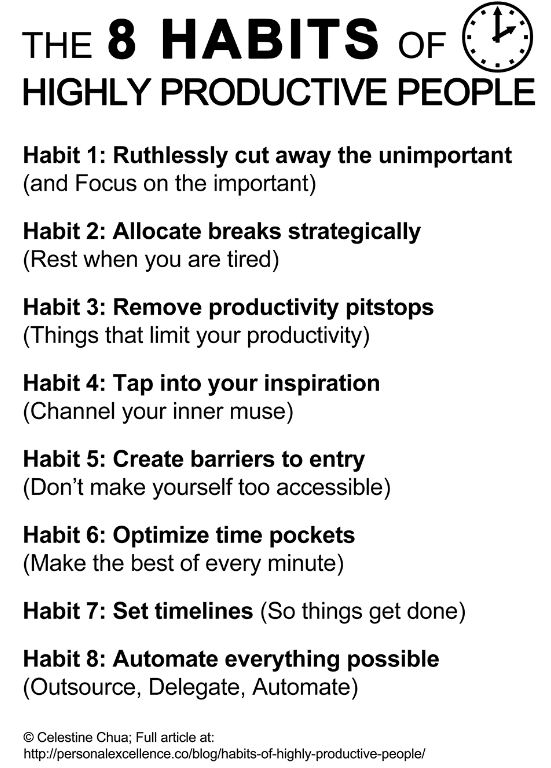 Infographic: The 8 Habits