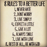 8 Rules to a Better Life Meme