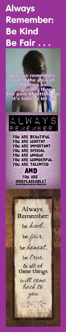 Always Remember Motivational Bookmark