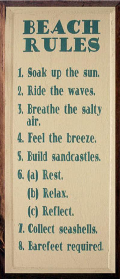Beach Rules: Have Fun!