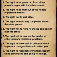 Children's Divorce Bill of Rights