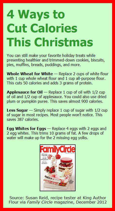Cut Calories for Christmas
