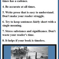 Edward Atkins's 8 Rules of Writing