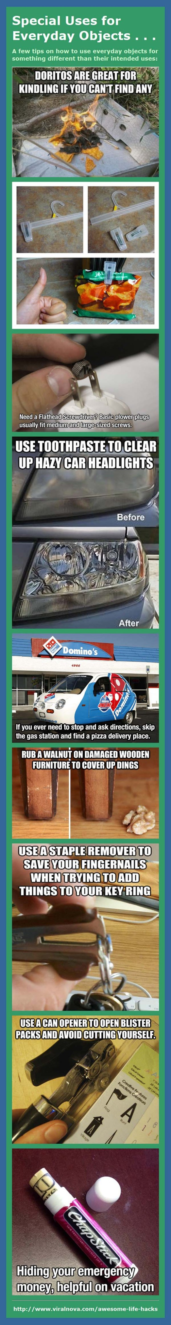 Special Uses for Everyday Objects