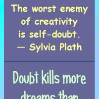 Motivational Bookmark: Banish Fear and Doubt