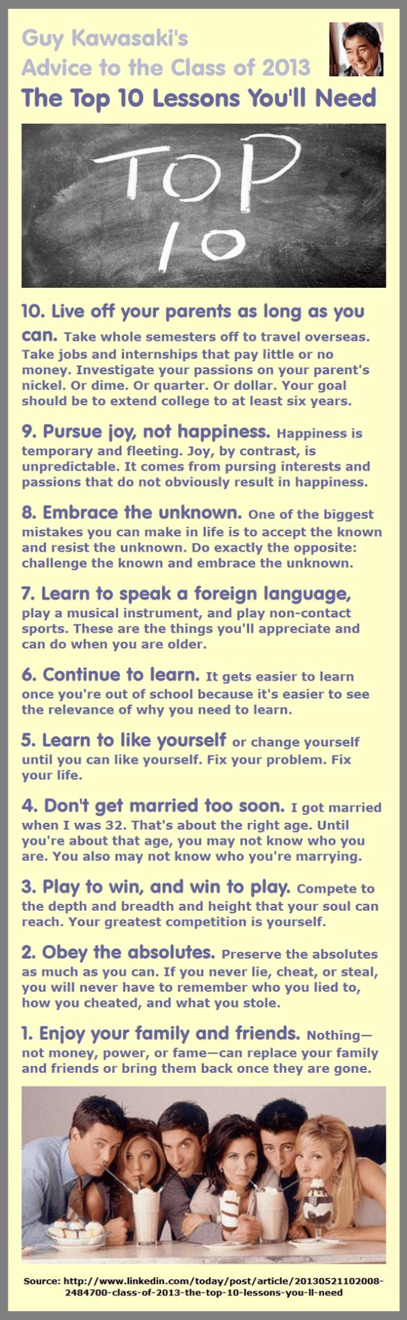Guy Kawasaki's Top 10 Advice Tips