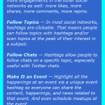 Hashtags Infographic