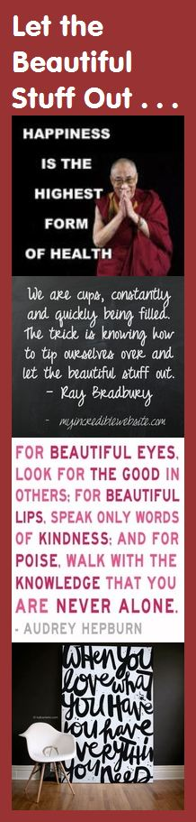 Motivational Bookmark: Let the Beautiful Stuff Out