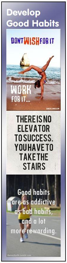 Motivational Bookmark - Develop Good Habits