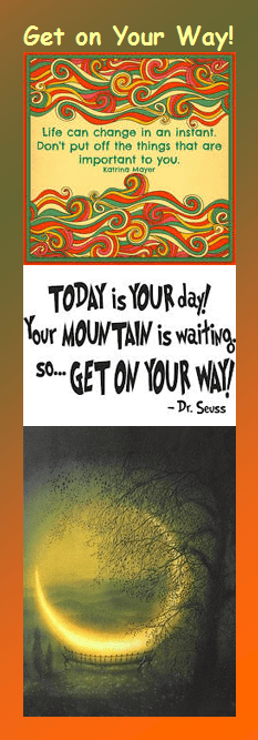 Motivational Bookmark: Get on Your Way