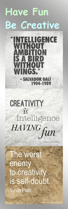 Motivational Bookmark - Have Fun Be Creative
