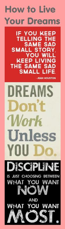 Motivational Bookmark - How to Live Your Dreams