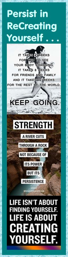 Motivational Bookmark - Persist in Recreating Yourself