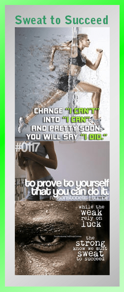 Motivational Bookmark: Sweat to Succeed