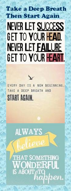 Motivational Bookmark - Take a Deep Breath