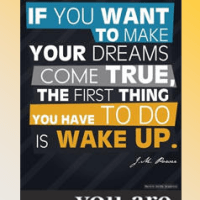Motivational Bookmark: Wake Up!