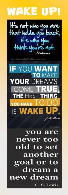 Motivational Bookmark: Wake Up!