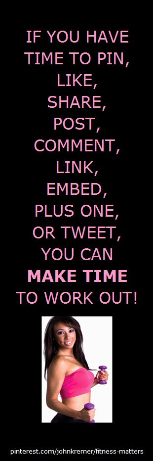 Make Time to Work Out