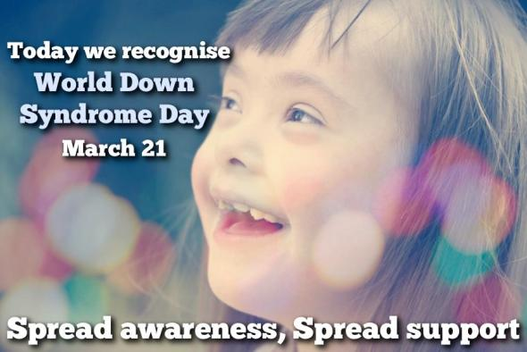 World Down Syndrome Day is observed on March 21st. On this day, people with Down syndrome and those who live and work with them throughout the world participate in activities to raise public awareness to advocate for the rights, inclusion and well-being of people with Down syndrome.