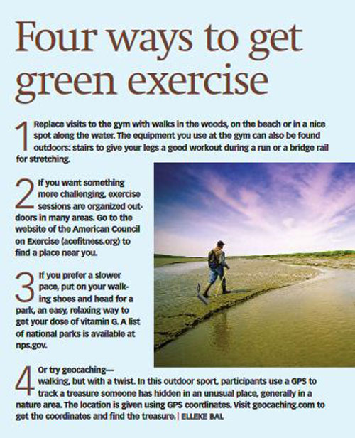 green exercise via The Intelligent Optimist