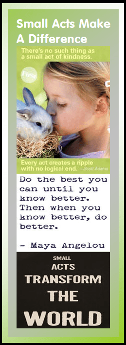 motivational bookmark: small acts make a difference