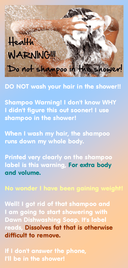 shampoo warning