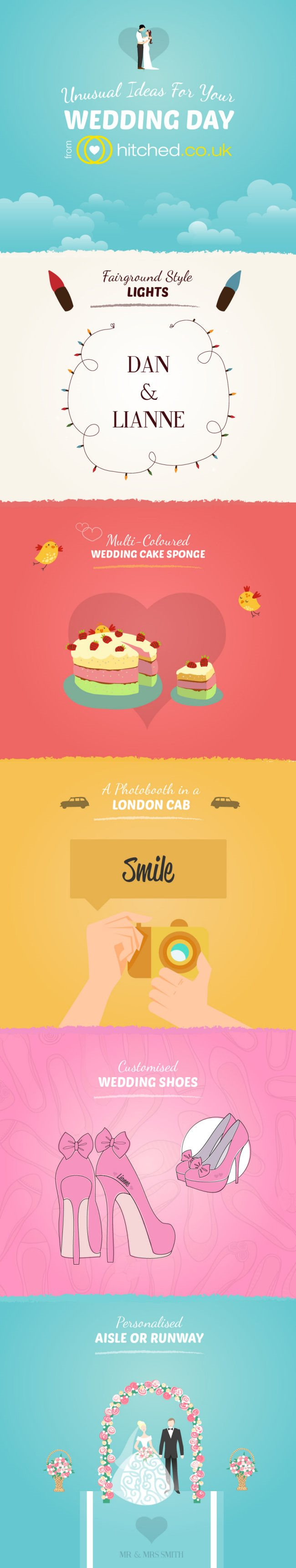 Unusual Ideas for your wedding day Infographic