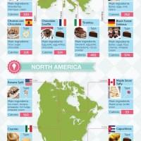 World Map of Desserts