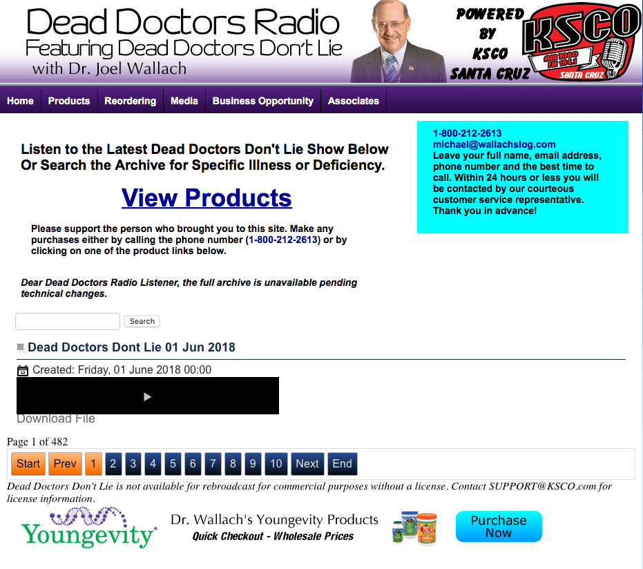 Dead Doctors Don't Lie Radio Program