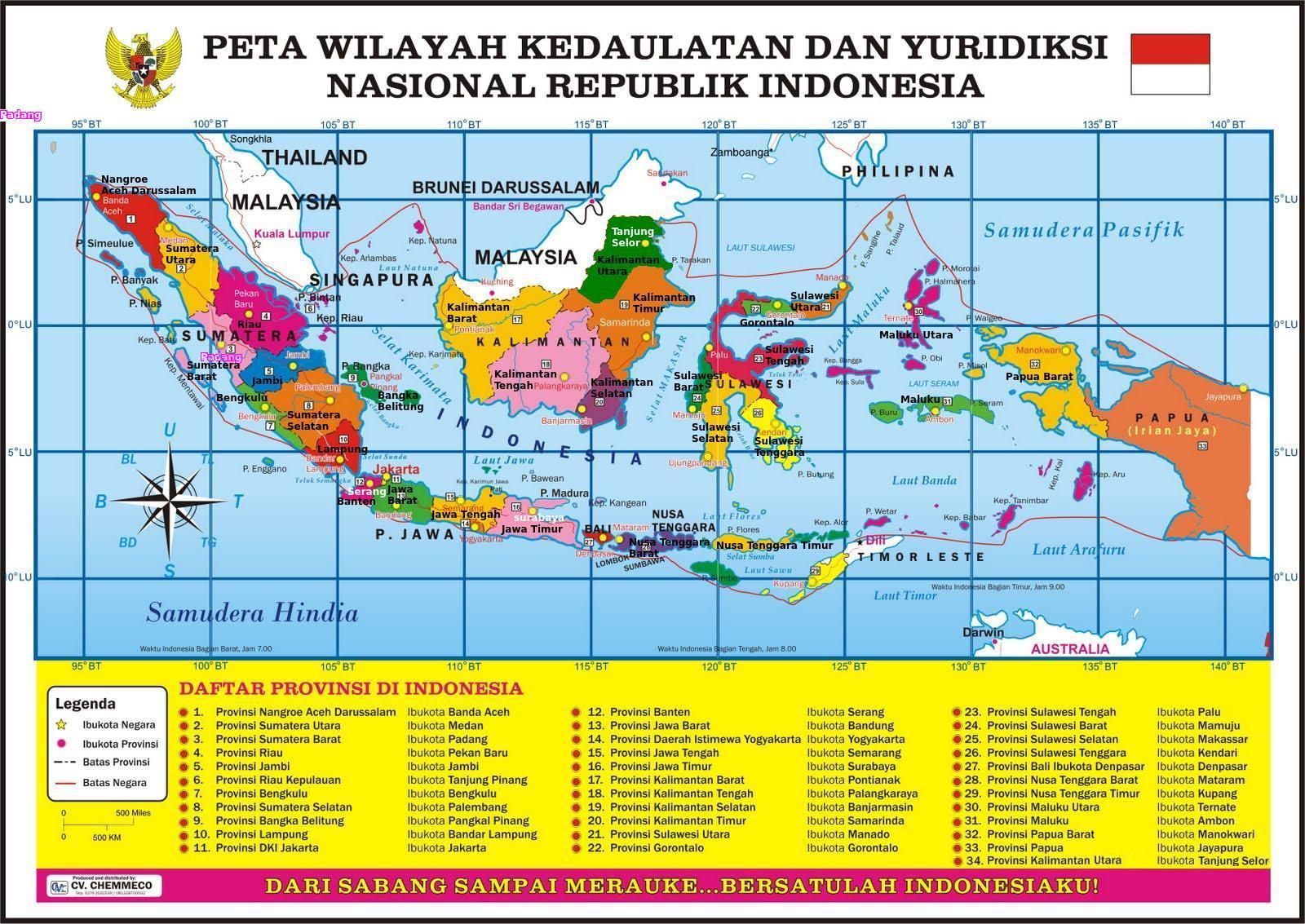 Macam macam legenda atau simbol dari peta. Gambar Peta Indonesia Lengkap Dengan Legenda