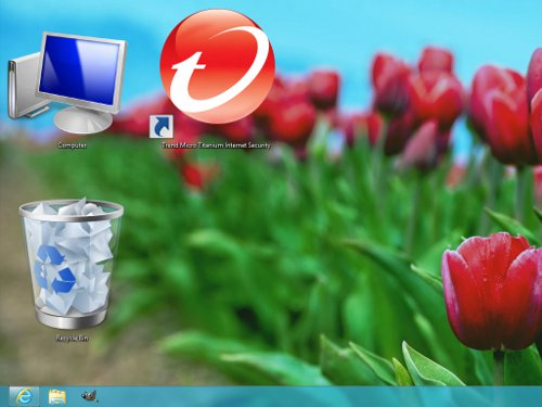 Increase or decrease desktop icon size in Windows 8