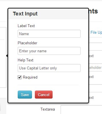 create online forms - edit field