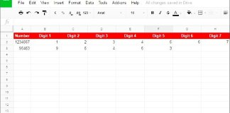 Split Number to Digits in Google Sheets