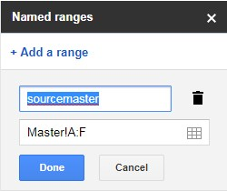add named ranges for query function