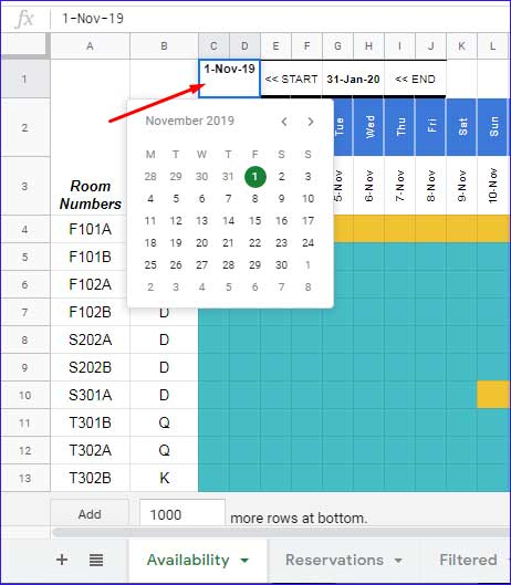 Reservation is basically a process of. Reservation And Booking Status Calendar Template In Google Sheets