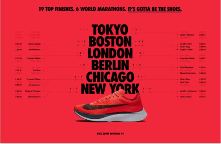 Vaporfly has been super successful at the global level (Source- Nike)