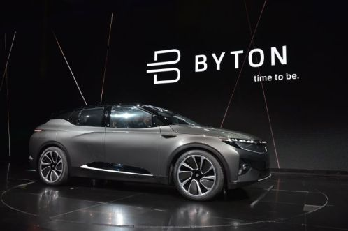 The Byton Car during its launch