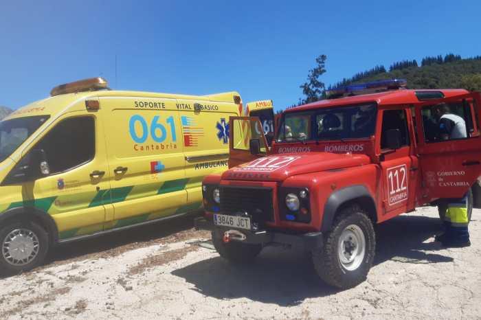 Evacuada una mujer con posible fractura de tobillo de una pista de Cahecho