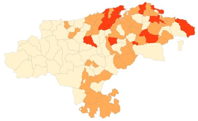 El semáforo COVID sitúa los municipios lebaniegos en el nivel 1