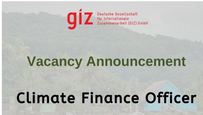 GIZ-CCCPIR Climate Finance Officer