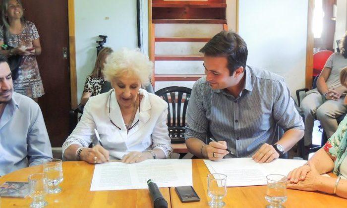 La Provincia firmó un convenio con Abuelas de Plaza de Mayo