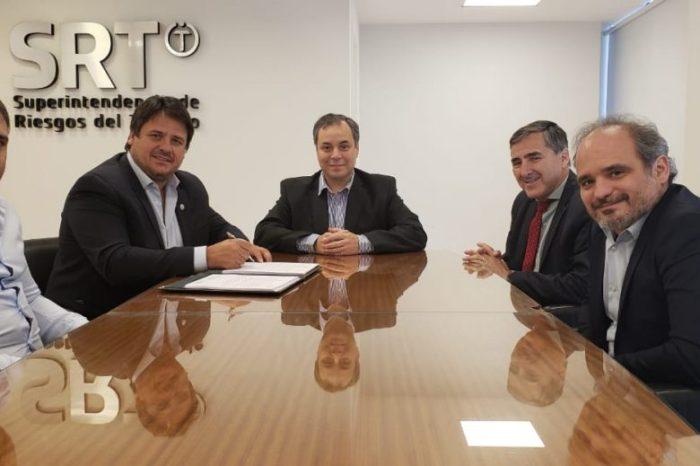 Gaido firmó convenio con la Superintendencia de Riesgos del Trabajo