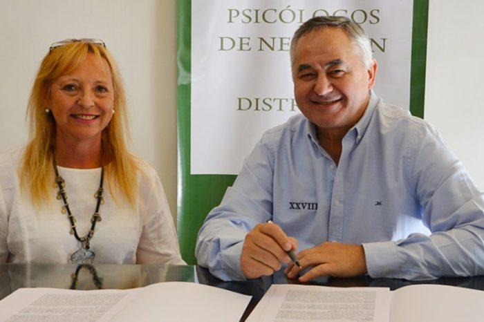 Nuevo convenio con el Colegio de Psicólogos de Neuquén