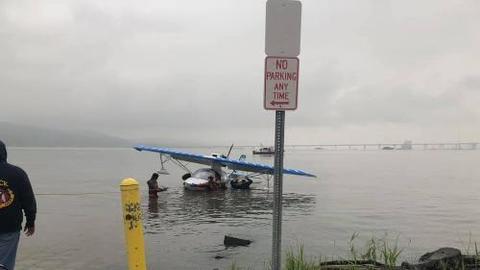Avioneta hace aterrizaje de emergencia en el río Hudson