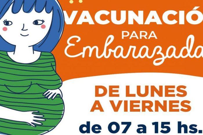 Se suma un nuevo espacio de vacunación exclusivo para embarazadas