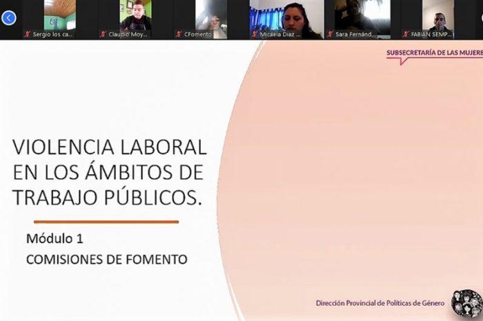 Capacitación sobre violencia laboral en el empleo público para comisiones de fomento