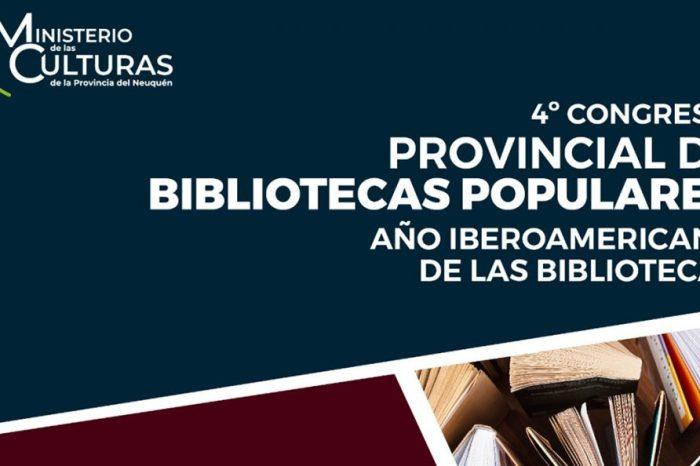 Se viene el 4º Congreso Provincial de Bibliotecas Populares