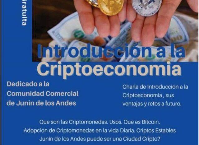 Charla gratuita sobre Criptomendas en Junín de los Andes